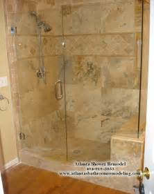 dusche renovieren atlanta travertine shower remodeling ideas and pictures