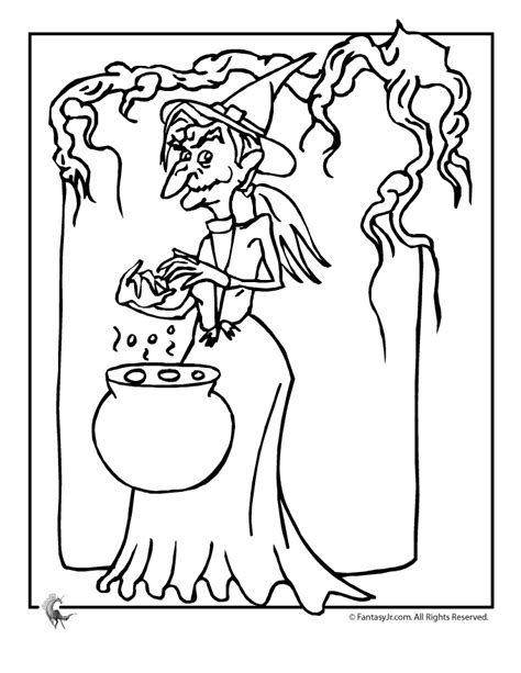 witch cauldron coloring page witch brewing cauldron coloring page woo jr kids