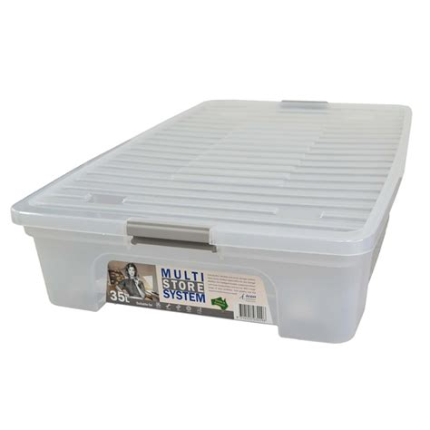 under bed storage container icon plastics 35l clear under bed storage container with