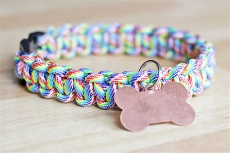 how to make a paracord collar how to rainbow paracord collar