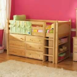 Bed And Dresser Maxtrix Low Loft Bed With Dresser And Bookcase