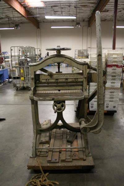 challenge guillotine paper cutter 1890 s challenge 25 quot guillotine paper cutter and 5 blades