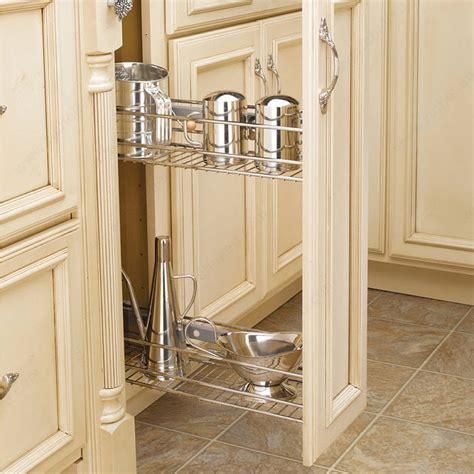Narrow Kitchen Base Cabinet Sliding Basket System For Narrow Spaces Richelieu Hardware