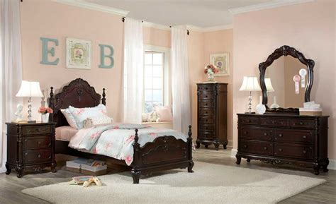 homelegance cinderella bedroom set cherry b1386nc