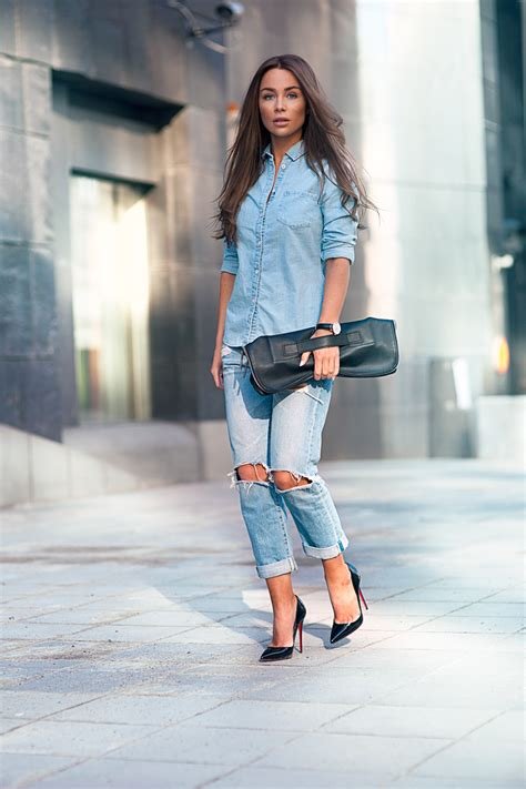 fashionable denim outfit ideas  women ohh