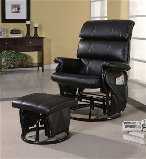 Glider Rocker Recliner Chair With Ottoman Best Swivel Chairs Glider Rocker Recliner With Ottoman Black Leatherette Reviews