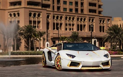 trump gold plated car gold plated lamborghini aventador lp700 4 spotted in qatar