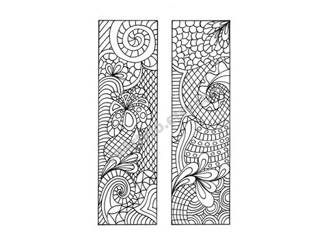 printable bookmarks etsy printable bookmarks zentangle inspired diy zendoodle