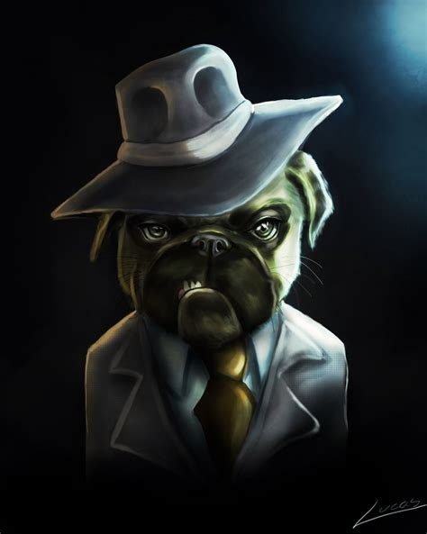 gangster pug artstation gangster pug lucas ribeiro