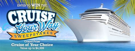 Free Vacation Sweepstakes - enter this vacation sweepstakes for your chance to win a cruise