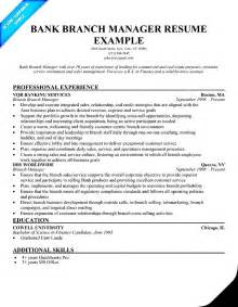 Sample Resume For Bank bank branch manager resume free samples examples amp format resume
