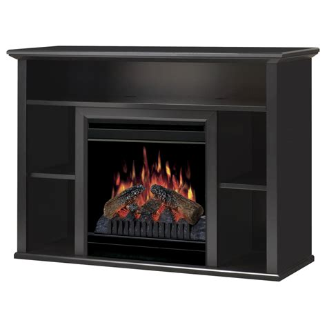 shop dimplex 46 5 in w black electric fireplace with - Electric Fireplace Thermostat