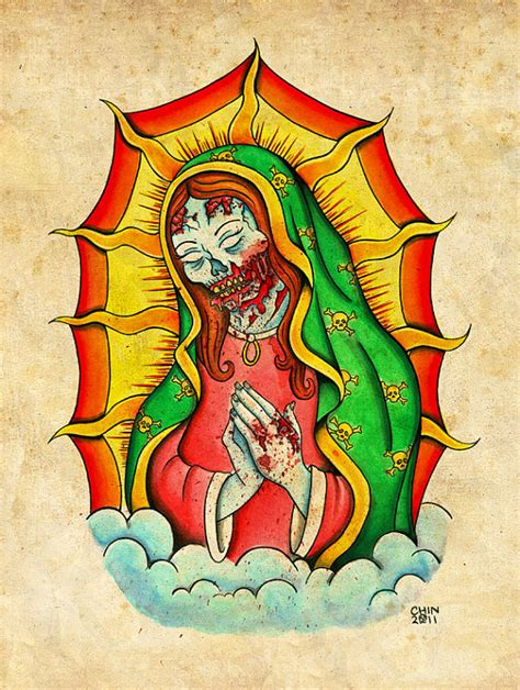 tattoo old school zombie items similar to zombie virgin mary neo traditional old