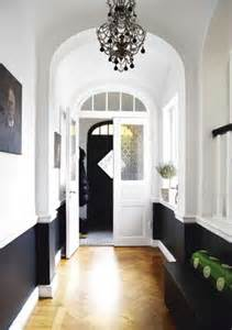 foyer ideas black and white entryway