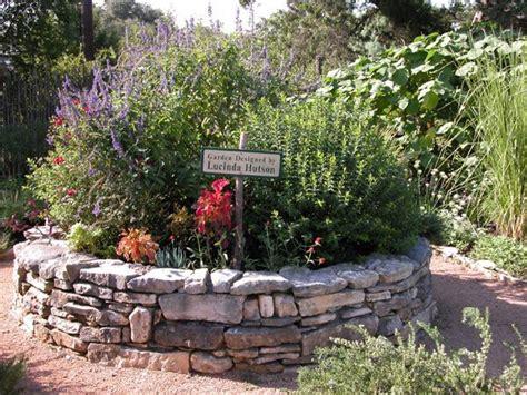 Rock Wall Around Herb Garden Outside Gardening Rock Garden Herbs