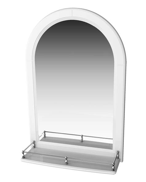 miller traditional  mirror  white arched frame