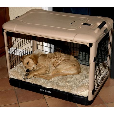 steel crate pet gear 174 the other door steel crate with black mat and carry bag 176275