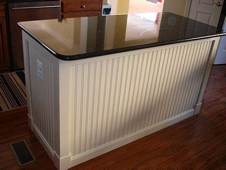 wainscoting kitchen island beadboard kitchen island home design ideas pictures remodel and decor