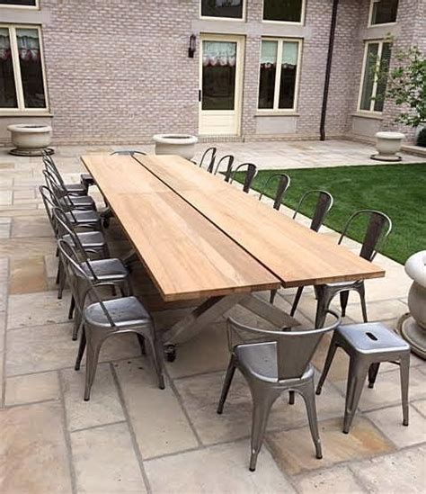 Stainless Steel Patio Table Teak And Stainless Steel Patio Table Traditional Patio Denver By Where Wood Meets Steel