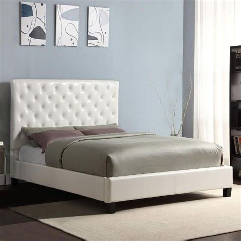 diamond headboard bed modern diamond button tufted faux leather upholstered