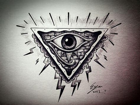 eyeball tattoo satanic all seeing eye my style by eason41 on deviantart