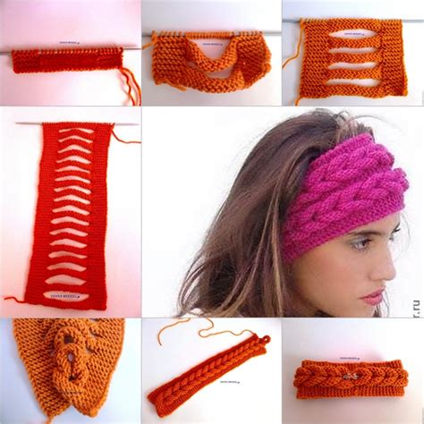 knit headband diy knit faux braid pattern free beesdiy