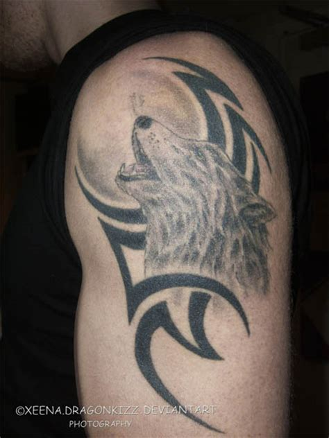 tribal wolf tattoos for men gladiator cool tribal wolf tattoos 2011