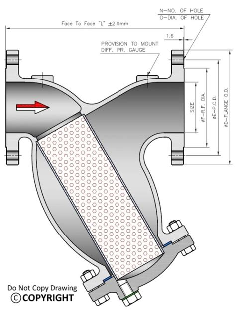 Y Strainer Drawing by Y Type Strainer Filter Manufacturer Exporter Supplier