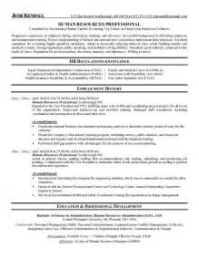 example human resources professional resume free sample