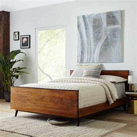 mid century bedding lars mid century bed west elm