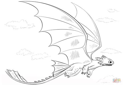 Coloring Pages Toothless Dragon | toothless dragon coloring page free printable coloring pages