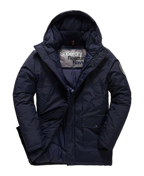 New Endia Jaket Navy new mens superdry everest parka jacket navy ebay