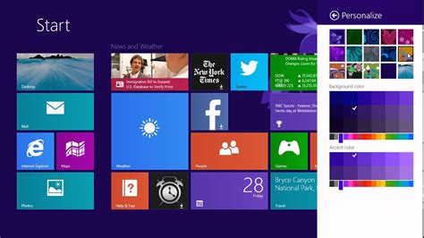 new youtube layout color windows 8 1 customize the start screen background with new