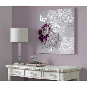 Purple And Grey Bedrooms Minus The Big White Butterfly I Love This Monsoon