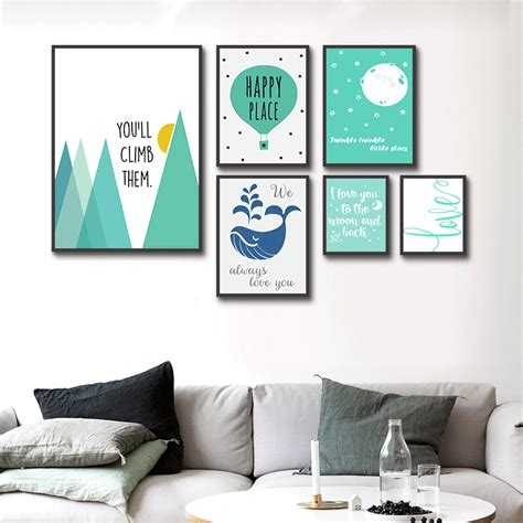 Poster Pop Gepetto 20x30cm haochu nordic triptych abstract mountain balloon arctic