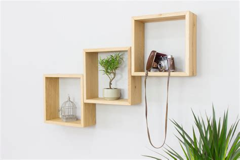 square shelves wall creative wooden wall shelves by bespoak interiors