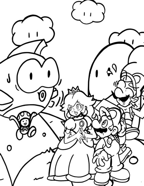 mario coloring pages free online princess with mario coloring pages mario bros games