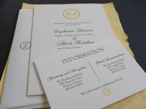canadian wedding invitations chic wedding invitations canada we do printing letterpress