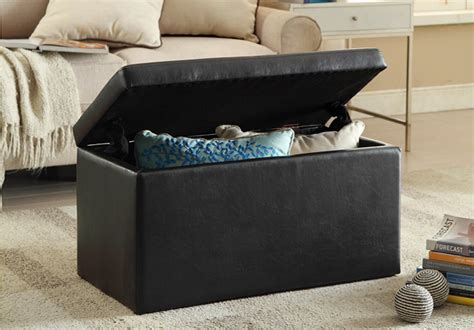 walmart storage ottoman black friday 29 reg 40 faux leather storage ottoman free