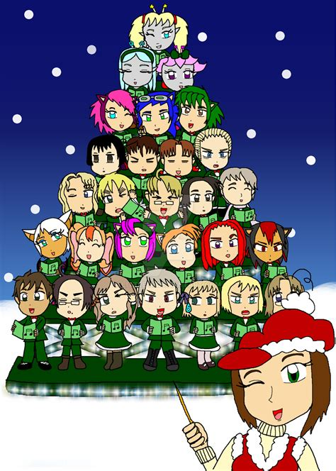 singing chibi christmas tree by little a on deviantart