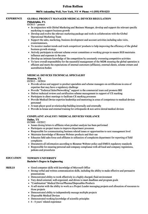 Device Resume Exles by Device Resume Sle Gmagazine Co