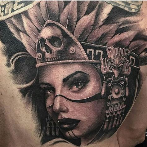 aztec girl tattoo aztec designs for and 2018