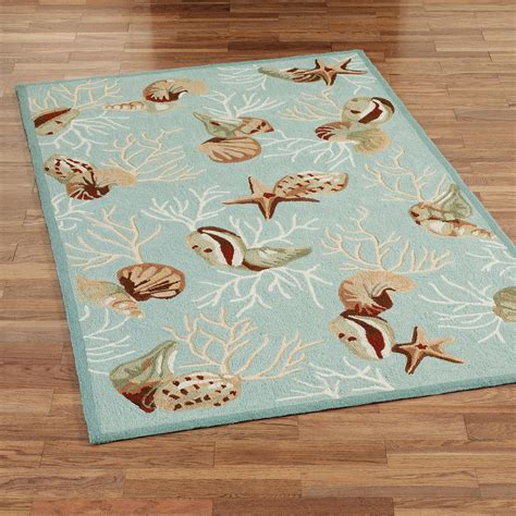 seashell bathroom rugs coral hooked seashell area rugs