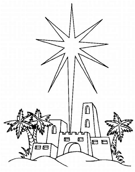 coloring page of a christmas star christmas coloring book
