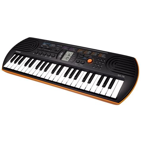 Casio Keyboard Mini Sa 76 casio sa 76 44 note mini keyboard black orange