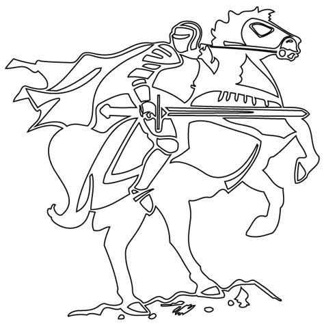 coloring pages of knights and horses on coloring page