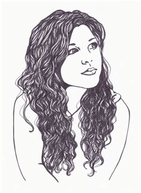 curly hairstyles drawing curly hair curly hair drawing and how to draw on pinterest