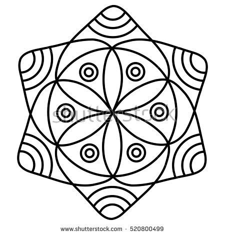 mandala coloring book a coloring book with easy and relaxing mandalas to color gift for boys tweens and beginners books simple flower mandala pattern coloring book stock vector