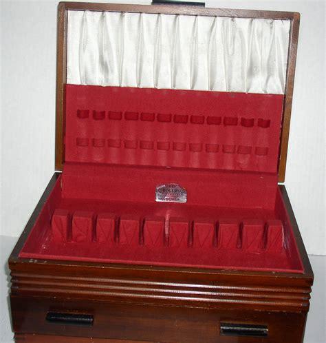 silverware rubber st vintage wood silverware flatware chest with drawer 1881