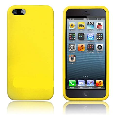 Silicon Sincan For Iphone 5 silicone for iphone 5 5s yellow